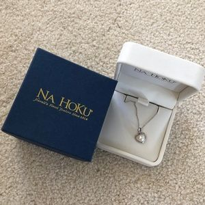 Na Hoku pearl heart pendant and chain